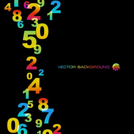 Abstract background with numbers signs. Stock Vector - 7522549