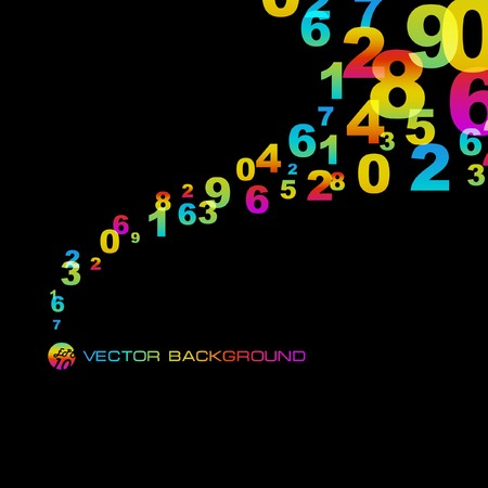 mathematician: Abstract background with numbers signs.