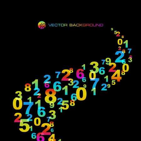 Abstract background with numbers signs. Stock Vector - 7522569