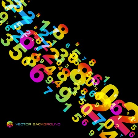 number code: Abstract background with numbers signs.