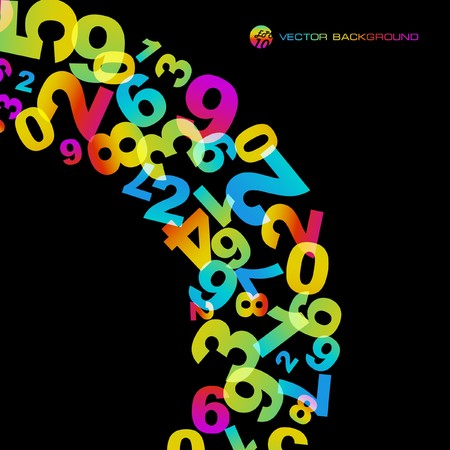 Abstract background with numbers signs. Stock Vector - 7522571