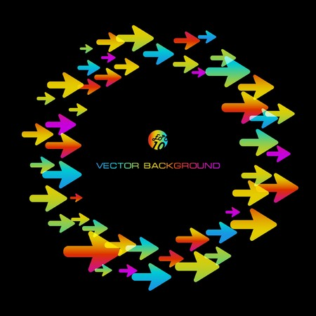 Abstract background with arrow signs.   Vector