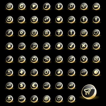 verzameling van de knoppen voor het web