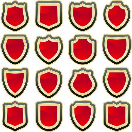 shields for design   Vector