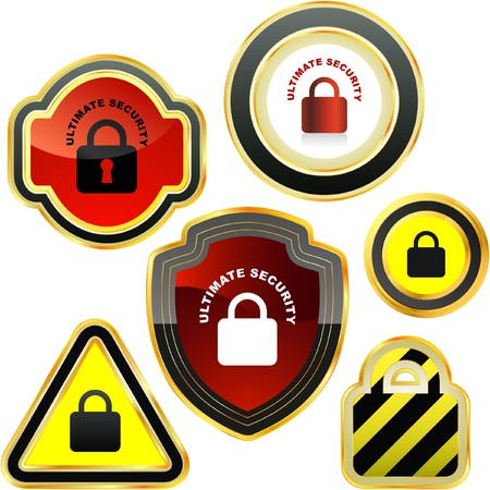 Padlock button set.  collection.    Vector