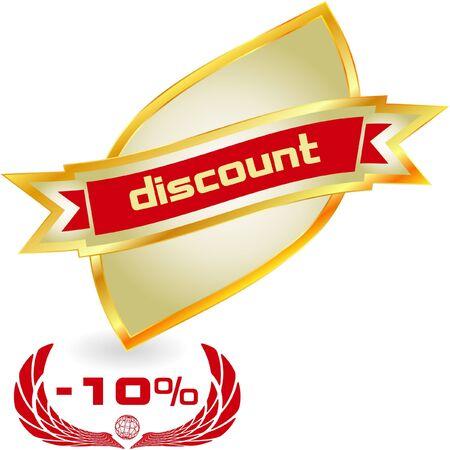 Discount label Stock Vector - 7543576