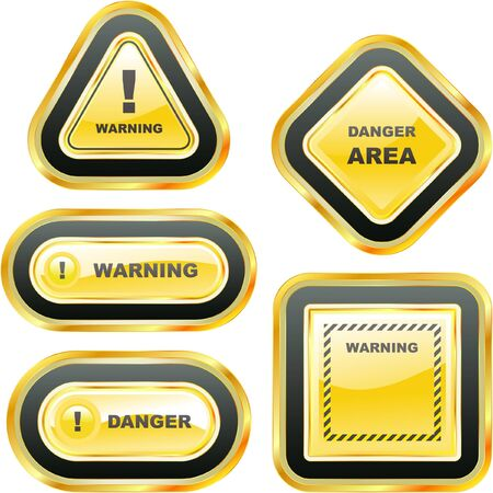 Warning   banner. Stock Vector - 7543570