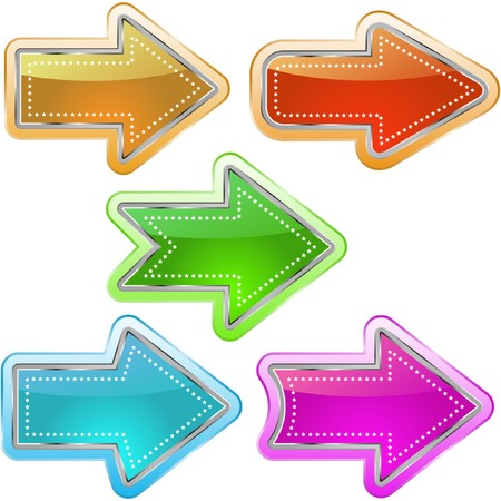 A   set of useful arrows. Stock Vector - 7543574
