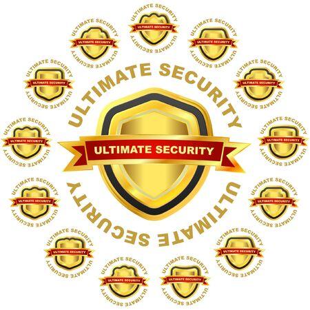 ultimate: Ultimate security.   illustration.