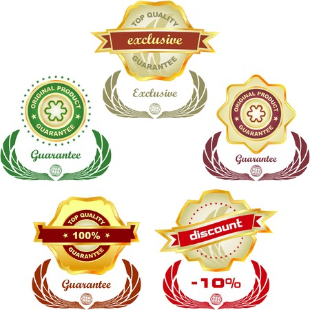 collection of sale labels Stock Vector - 7550041