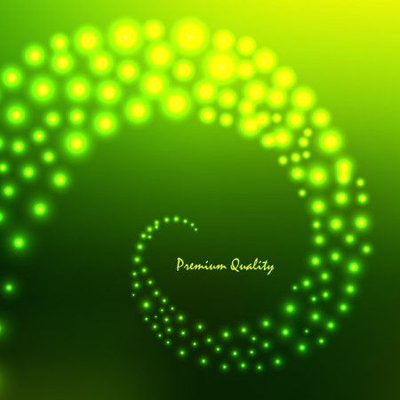 illustration. Green abstract light background. Vector