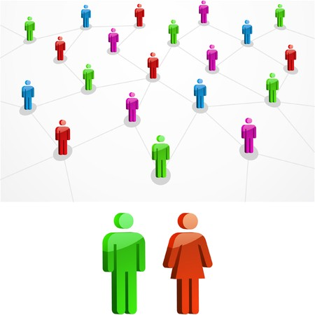 businessteam: Network concept.  illustration.