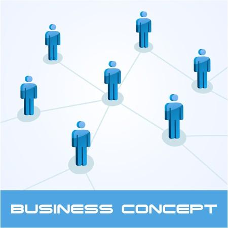 Network concept.   illustration. Stock Vector - 7568182