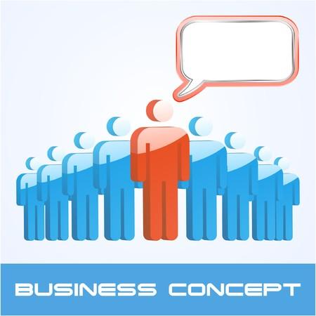 blab: Discorso business concetto. illustrazione.  Vettoriali