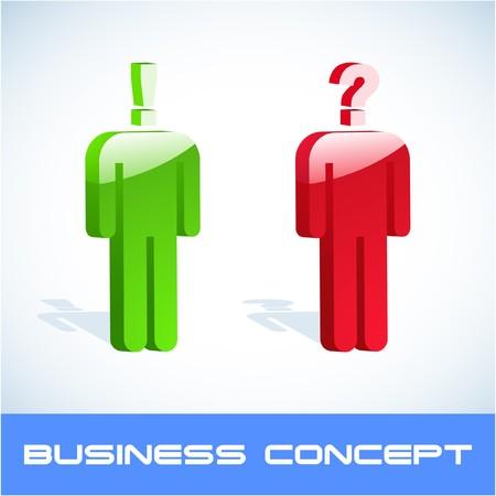 Question concept.  illustration.   Vector