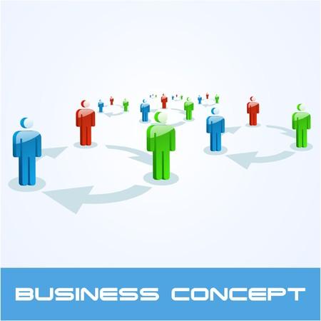 Network concept.   illustration. Stock Vector - 7568196