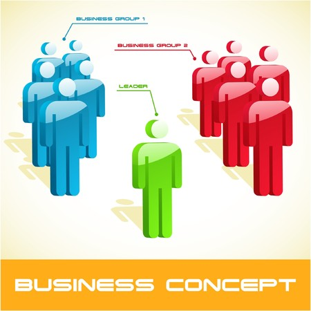 Network business concept.   illustration. Stock Vector - 7568192