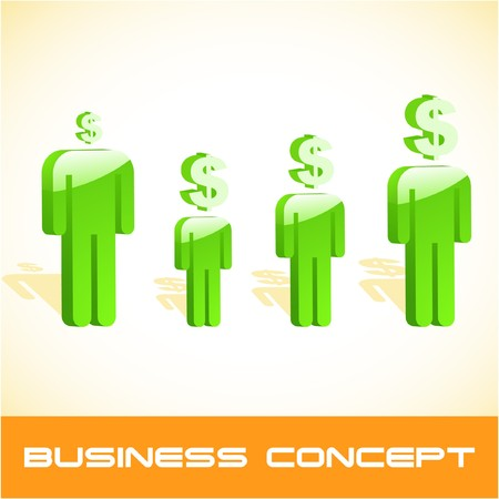Business concept.  illustration.   Vector