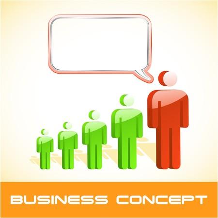 Speech business concept.   illustration.   Vector
