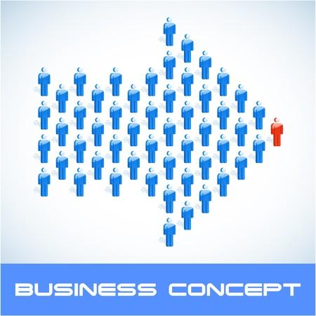public market sign: Team business concept.  illustration.   Illustration