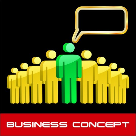Speech business concept.  illustration.   Stock Vector - 7568289