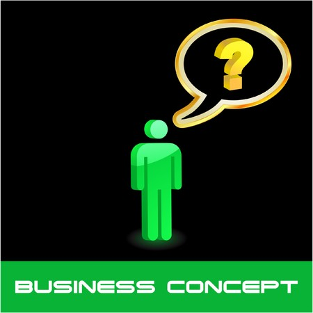 Question concept illustration. Stock Vector - 7568284