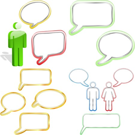 speech bubble.  Stock Vector - 7568374
