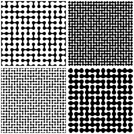 Maze. Seamless pattern. Vector