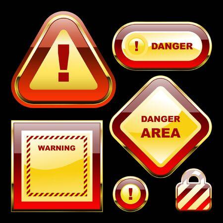 Warning sign. Stock Vector - 7568372