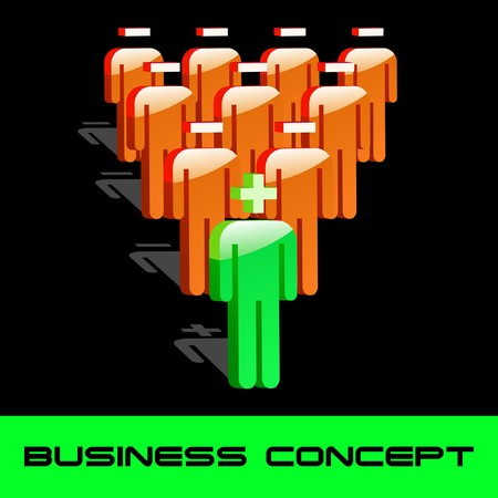 Team business concept.   illustration.   Vector