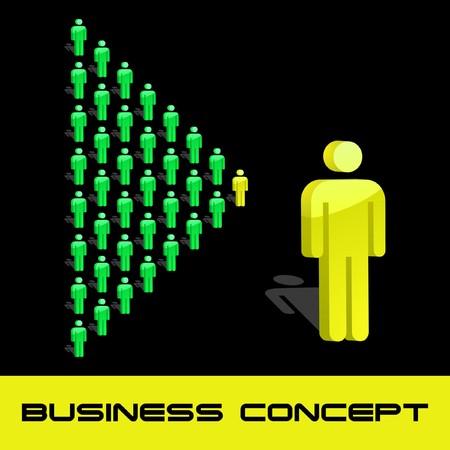 Concepto de negocio de equipo. ilustración.