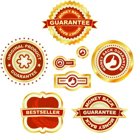 Set of sale labels. Stock Vector - 7587328