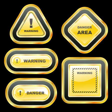 Warning banner set.  template.    Stock Vector - 7587316