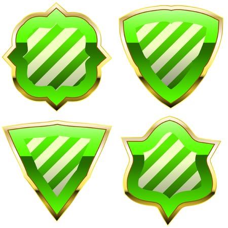 shield set:   shield set for design   Illustration