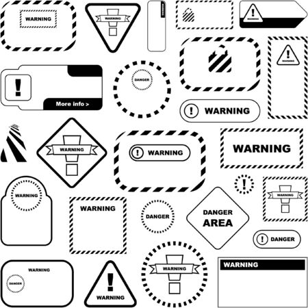 Warning  signs. Great collection. Stock Vector - 7587320
