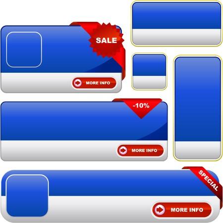 Set of sale banner Stock Vector - 7800510