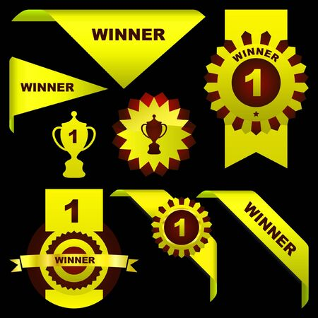 Award set. Great collection. Stock Vector - 7800513