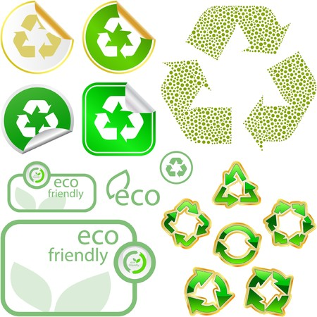 Set of eco friendly, natural and organic labels.   Stock Vector - 7800516
