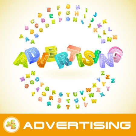 branded product: ADVERTISING. 3d illustration.