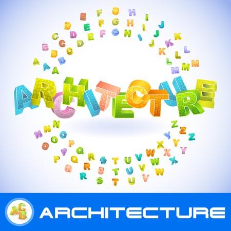 systematization: ARCHITECTURE. 3d illustration.   Illustration