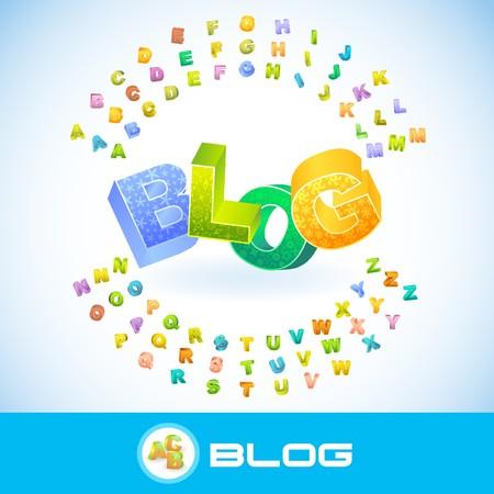 BLOG. 3d illustration.