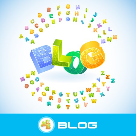 blogosphere: BLOG. 3d illustration.