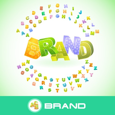 interbrand: BRAND. 3d illustration.