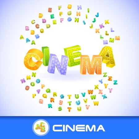 CINEMA. 3d illustration.   Vector