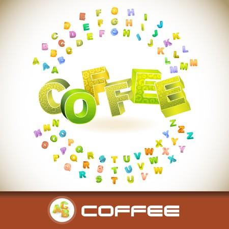COFFEE. 3d illustration.   Vector