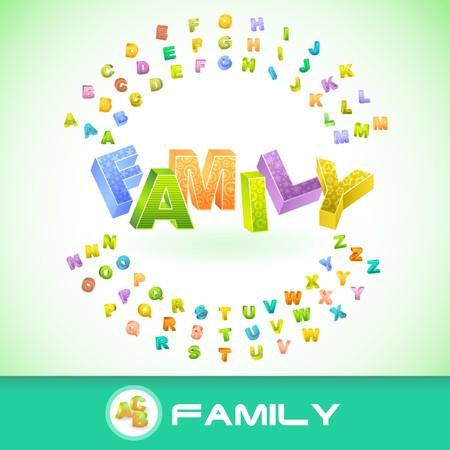 FAMILY. 3d illustration.   Stock Vector - 7800531