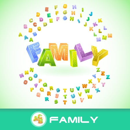 FAMILY. 3d illustration. Stock Vector - 7800531