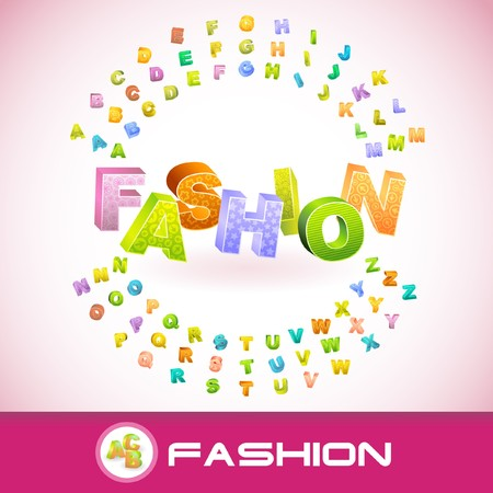 FASHION. 3d illustration.   Vector