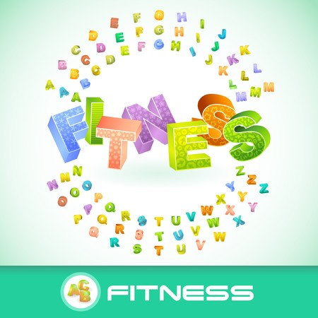 FITNESS. 3d illustration.   Vector