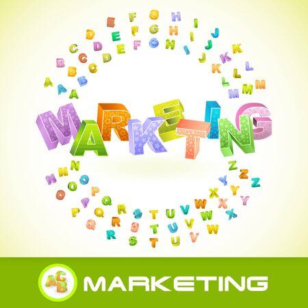 MARKETING. 3d illustration. Stock Vector - 7819593